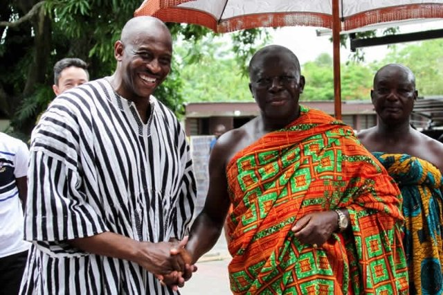 The Great Otumfuo is taking his COVID jab