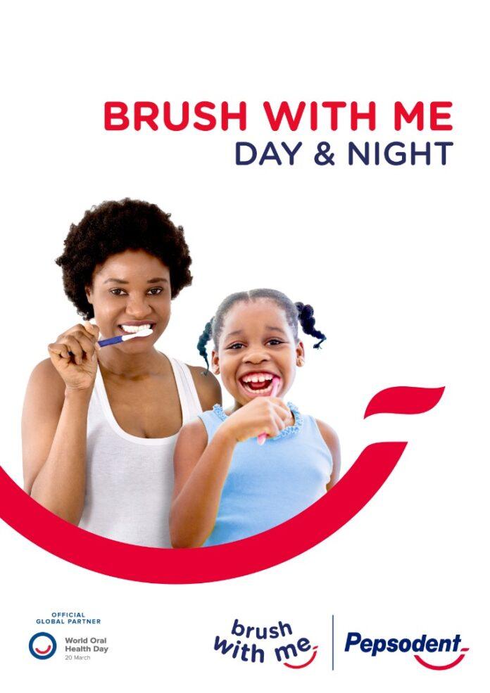 Pepsodent brushing their teeth