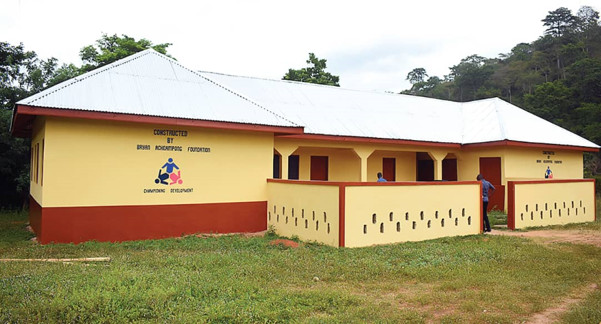Bryan Acheampong Foundation hands over a two-unit KG classroom to Kwahu Akoma