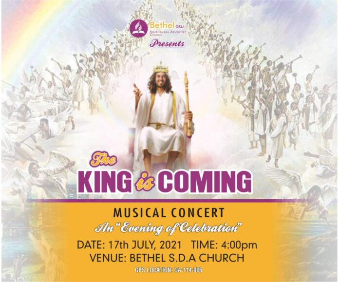 The King is Coming concert