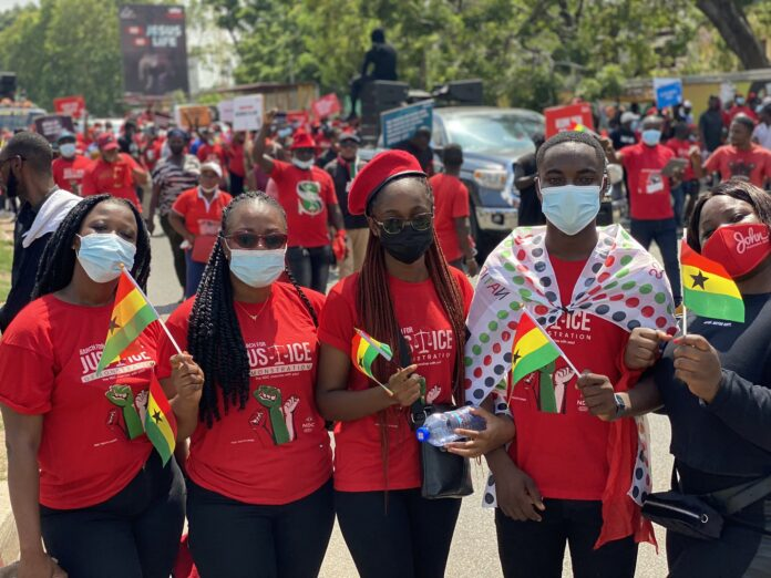 NDC presents 'March For Justice' petition